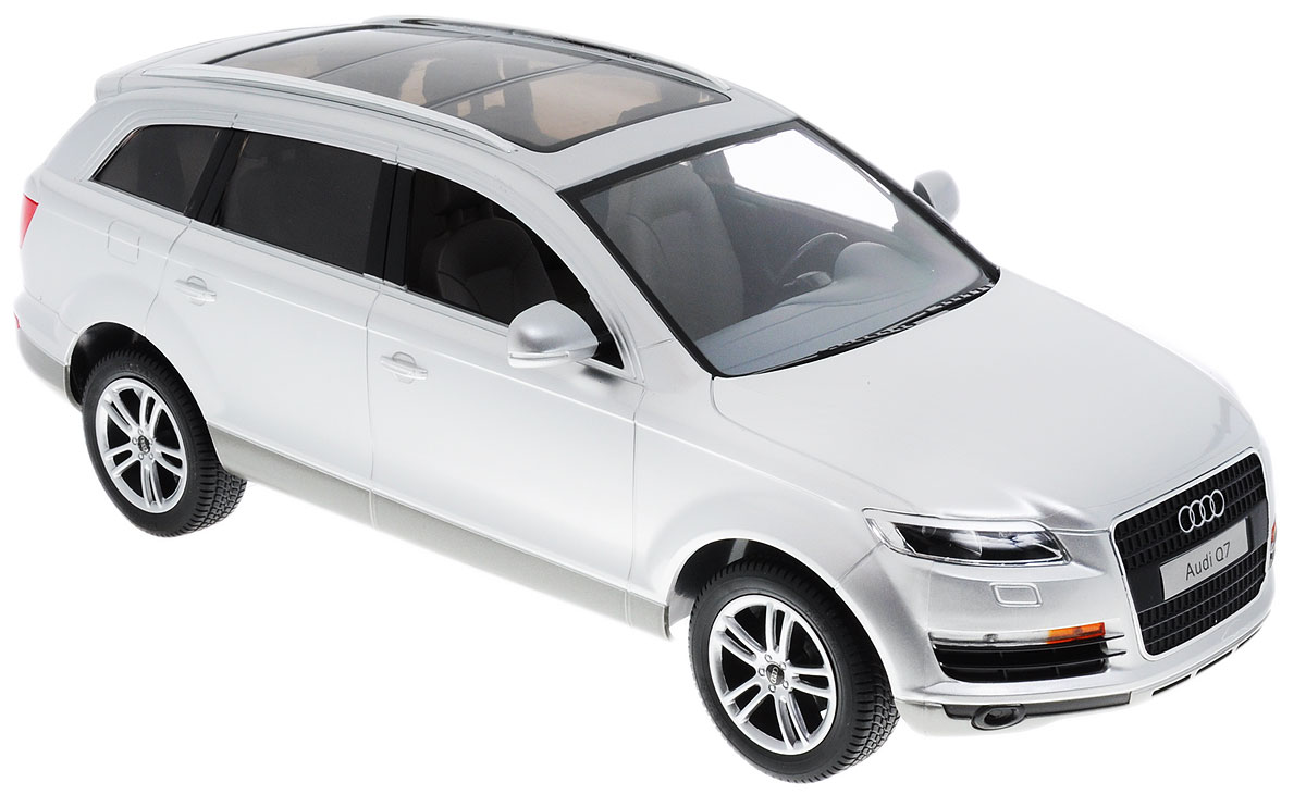 Rastar Радиоуправляемая модель Audi Q7 цвет серебристый масштаб 1:14 радиоуправляемая игрушка rastar audi q7 1 24 27300