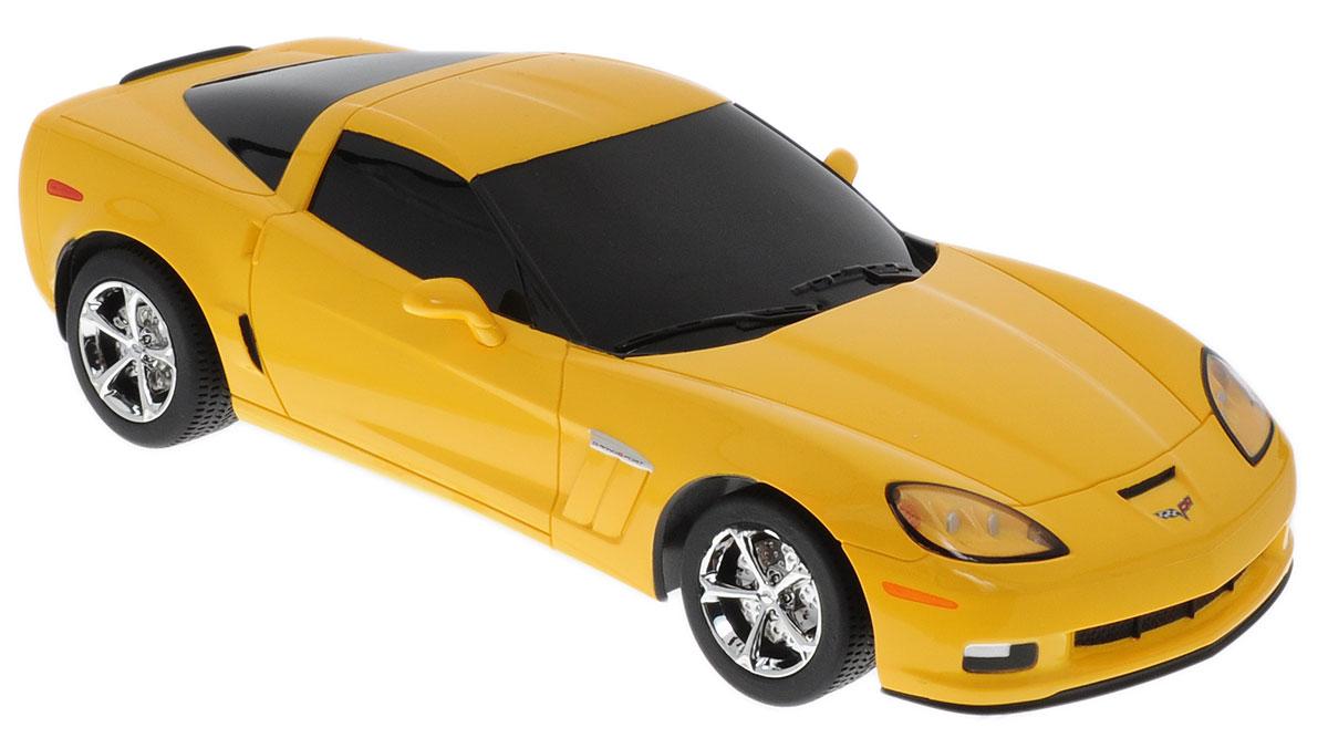 Rastar Радиоуправляемая модель Chevrolet Corvette C6 GS цвет желтый масштаб 1:18 машинки jada модель автомобиля 1963 corvette stingray centennial 1 18