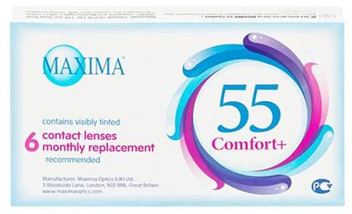Maxima контактные линзы 55 Comfort Plus (6шт / 8.6 / -3.00)Т11186Контактные линзы Maxima 55 Comfort Plus - это линзы ежемесячной замены, имеющие асферический дизайн и изготовленные из биосовместимого материала. Эти контактные линзы разработаны специально для людей имеющих небольшую степень астигматизма, а также желающих ощущать чувство полного комфорта в течение целого дня. Асферическая поверхность контактной линзы помогает формировать более контрастное и четкое изображение. В Maxima 55 Comfort Plus все лучи, в том числе и проходящие через периферию, собираются вместе, тем самым минимизируя оптические искажения. Другим достоинством этих линз является материал из которого они изготовлены. Контактные линзы Maxima 55 Comfort Plus обладают низким уровнем образования отложений, превосходно удерживают воду и отлично пропускают кислород к роговице глаза. Все это стало возможно благодаря совершенно новому биосовместимому материалу, благодаря ему ношение контактных линз стало еще более удобным и комфортным. Замена через 1 месяц. Характеристики:Материал: хайоксифилкон А. Кривизна: 8.6. Оптическая сила: - 3.00. Содержание воды: 57%. Диаметр: 14,2 мм. Количество линз: 6 шт. Размер упаковки: 11 см х 1,5 см х 6,5 см. Производитель: Великобритания. Товар сертифицирован.Контактные линзы или очки: советы офтальмологов. Статья OZON Гид