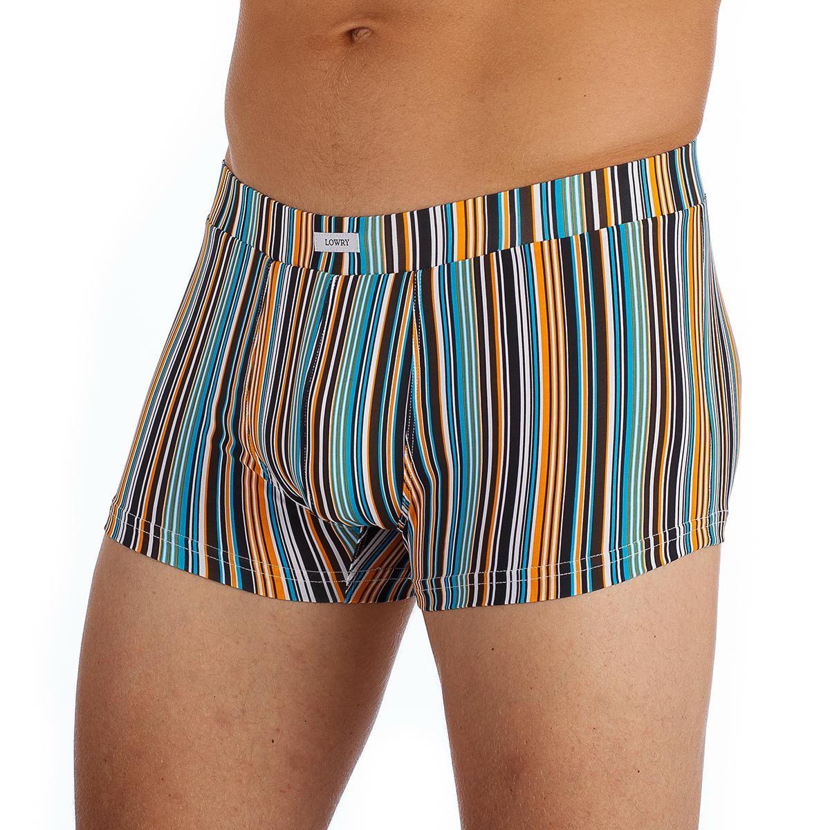 Трусы-хипсы мужские Lowry, цвет: белый, оранжевый, голубой, черный. MSHL-329. Размер M (46) трусы lowry трусы 3 шт