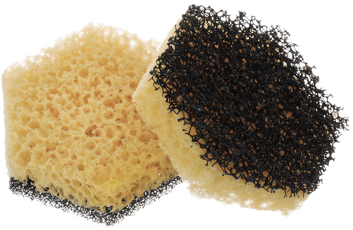 Губка для мытья посуды Фозет Мини-Соты, 2 шт2.4.01.008Губки для мытья посуды Фозет Мини-Соты выполнены из PVA и ненополиуретана. Предназначены для мытья посуды. Изделия отличаются прочностью и долговечностью, не царапают поверхность, отлично вспенивают моющее средство. При контакте с водой увеличиваются в размере. Размер губки: 9 х 8 х 2,5 см