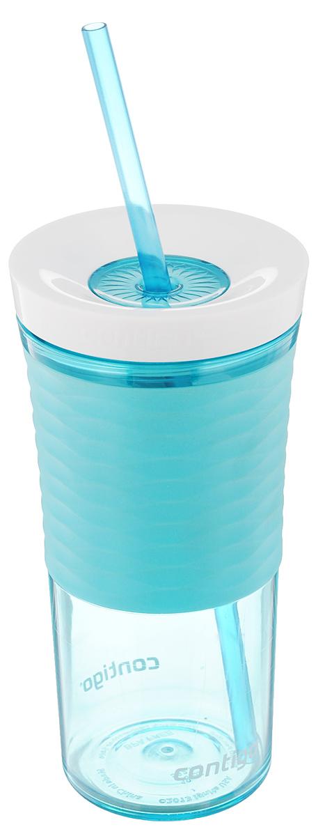 Шейкер Contigo Shake&Go, с трубочкой, цвет: бирюзовый, белый, 530 млcontigo0327Шейкер Contigo Shake&Go, изготовленный из высококачественного пластика, выполнен в виде стаканчика. Закручивающаяся крышка снабжена отверстием для трубочки (входит в комплект). Шейкер предназначен для холодных напитков и идеально подходит для того, чтобы взять с собой в дорогу воду, морс, смузи, шейк, чай или кофе. Двойные стенки дольше сохраняют напиток холодным. Резиновый ободок на корпусе обеспечивает надежный хват и комфорт во время использования. Вы любитель коктейлей, но времени сходить в бар у вас нет? Не расстраивайтесь. С помощью этого шейкера вы сможете приготовить самый экзотический смешанный напиток у себя дома, чем приятно удивите гостей, родных и близких вам людей. Почувствуйте себя профессиональным барменом! Можно мыть в посудомоечной машине.Диаметр шейкера (по верхнему краю): 7,5 см.Диаметр основания шейкера: 6,5 см.Высота шейкера (с учетом крышки): 17,7 см.Длина трубочки: 25 см.