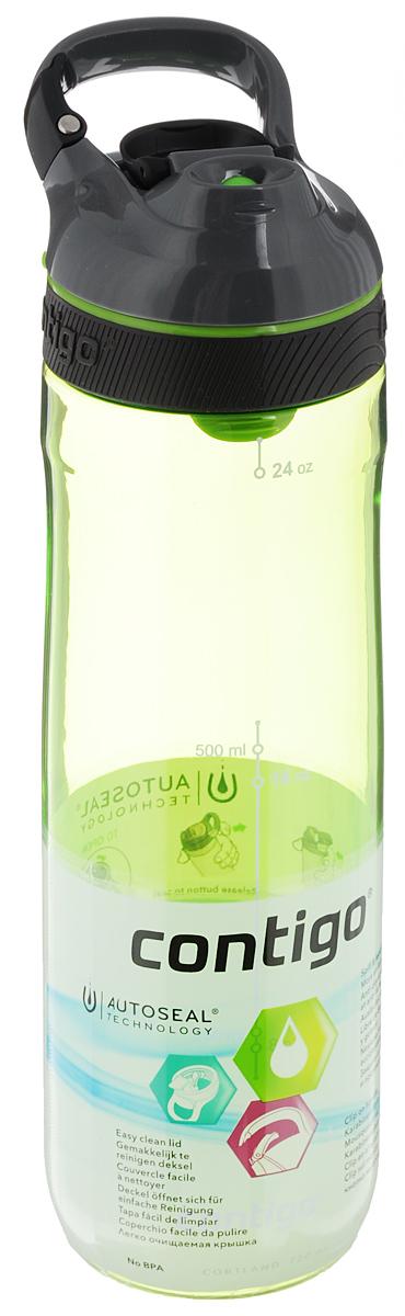 Бутылка для воды Contigo Cortland, цвет: зеленый, серый, черный, 720 млCONTIGO0461Бутылка для воды Contigo Cortland изготовлена из высококачественного прозрачногопластика, безопасного для здоровья. Закручивающаяся крышка с герметичнымклапаном для питья обеспечивает защиту от проливания. Оптимальный объем бутылки позволяет взять небольшую порциюнапитка. Она легко помещается в сумке или рюкзаке и всегда будет под рукой. Изделие имеет мерную шкалу, которая позволит контролировать количество жидкости. Такая идеальная бутылка небольшого размера, но отличной вместимостинаполняет оптимизмом, даря заряд позитива и хорошего настроения. Бутылка для воды Contigo Cortland - отличноерешение для прогулки, пикника, автомобильной поездки, занятий спортом ифитнесом. Высота бутылки (с учетом крышки): 25,5 см.Диаметр дна: 6 см.