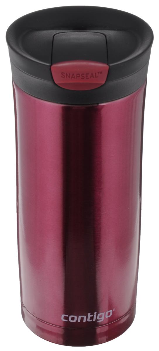 Термокружка Contigo Huron, цвет: винный, 470 мл