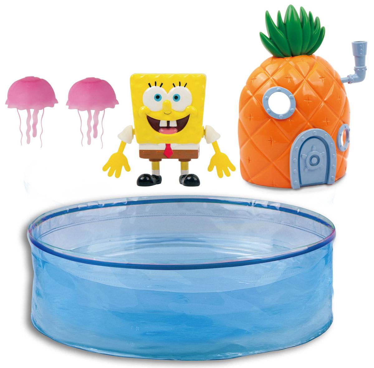 Robofish Игровой набор Губка Боб с аквариумом и домиком набор теста для лепки губка боб 4 цвета