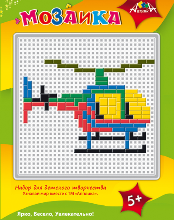 Апплика Мозаика Вертолет мозаики апплика мозаика