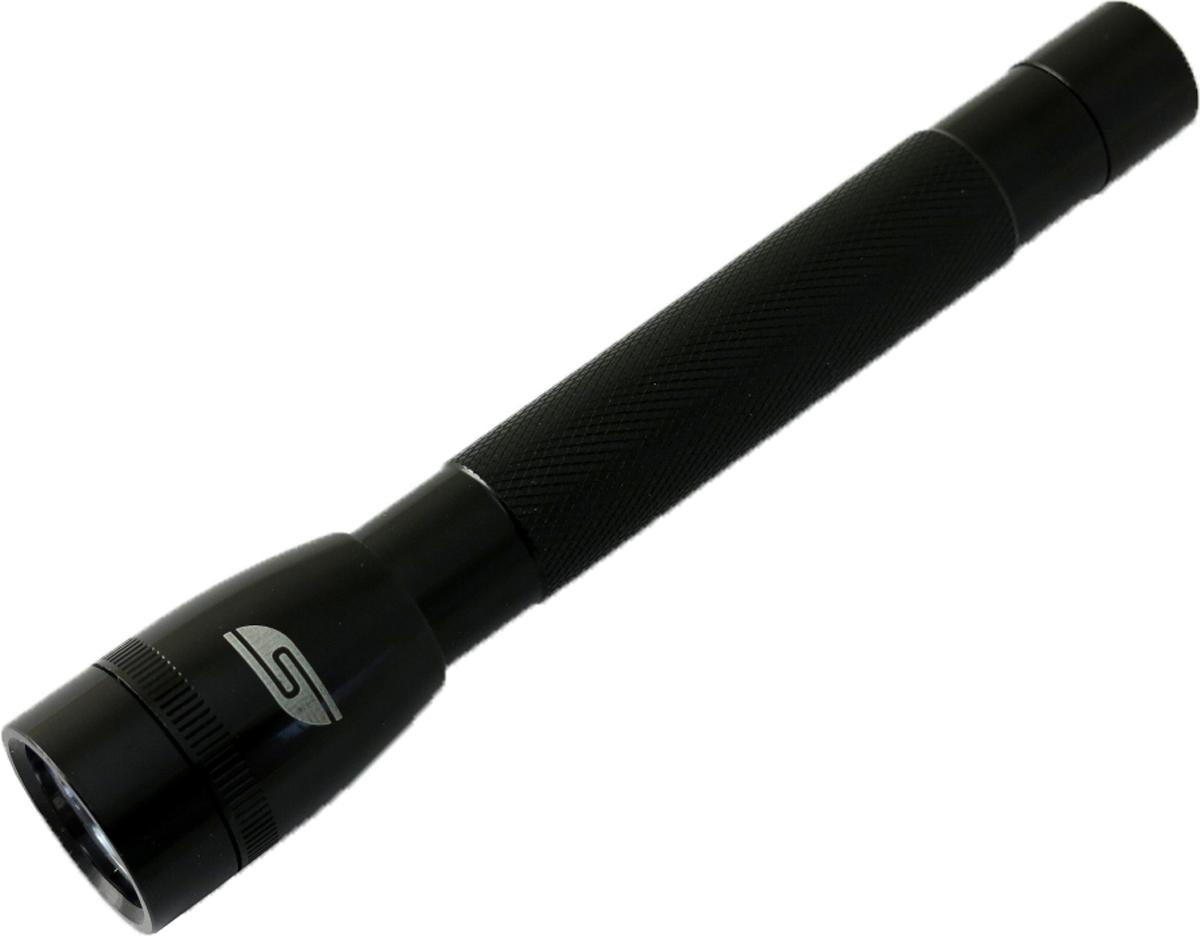 Фонарь SolarisF-5, ручной, цвет: черный3107blackФонарь влагозащищенный выполнен из качественного алюминия с защитным анодированием корпуса и снабжен современным светодиодом СREE XP-E R2 (США). Мощность светового потока 120 люмен, дальность эффективного излучения света 100 метров. Благодаря небольшим размерам и весу фонарь отлично подходит для ежедневного ношения в качестве карманного. Кнопка включения в хвостовой части фонаря утоплена в корпус, что исключает случайное нажатие в кармане. Фонарь обладает достаточно приличным световым потоком 120 люмен, и может также применяться в качестве основного или вспомогательного туристического фонаря. Особенности конструкции и эксплуатации фонаря SOLARIS F-5: - Один режим работы фонаря. - Кнопка включения расположена в хвостовой части фонаря. - Фонарь работает от двух батарей АА (в комплект не входят). - Время работы фонаря от 2-х батарей АА: 2,5 часа. - Резиновое уплотнение в хвостовике фонаря. Размер: 15,8 см х 27 см