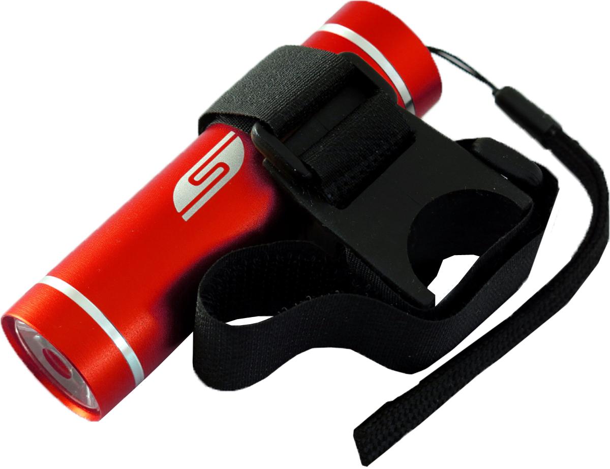 Фонарь велосипедный SolarisT-5V, передний, цвет: красный, черный3109redВелосипедный фонарь, выполненный из качественно алюминия с защитным анодированием корпуса, можно использовать также в качестве карманного фонаря. Фонарь снабжен современным светодиодом мощностью 1 Ватт. Мощность светового потока 60 люмен, дальность эффективного излучения света 100 метров. В комплект фонаря входит универсальное вело крепление. Благодаря расширенной комплектации фонарь имеет различные назначения: - Велосипедный фонарь. Закрепите фонарь на руле велосипеда при помощи универсального велокрепления. Корпус велокрепления выполнен из плотной резины и снабжён нейлоновыми лентами с липучками и пряжками.Благодаря этому велокрепление подходит практически для любого диаметра руля велосипеда. Плотная резиновая основа крепления обеспечивает очень надёжное прилегание к любой поверхности. Велокрепление устанавливается и снимается за считанные секунды. - Карманный фонарь. Благодаря длине всего 9 сантиметров и малому весу фонарь идеально подходит для ежедневного ношения в качестве карманного. Кнопка включения в хвостовой части фонаря утоплена в корпус, что исключает случайное нажатие в кармане. Коллиматорная линза направленного действия и светодиод мощностью 1 Ватт обеспечивают фонарю очень приличную дальность освещения 100 метров. Фонарь может применяться в качестве запасного туристического фонаря и источника света для бытовых нужд. Особенности конструкции и эксплуатации фонаря SOLARIS T-5V: - Один режим работы фонаря. - Кнопка включения расположена в хвостовой части фонаря. - Фонарь работает от 3-х батарей ААА (в комплект не входят).Кассета для батареек прилагается, находится внутри фонаря. - Время работы фонаря от 3-х батарей ААА: 5 часов. - Резиновое уплотнение в хвостовике фонаря.