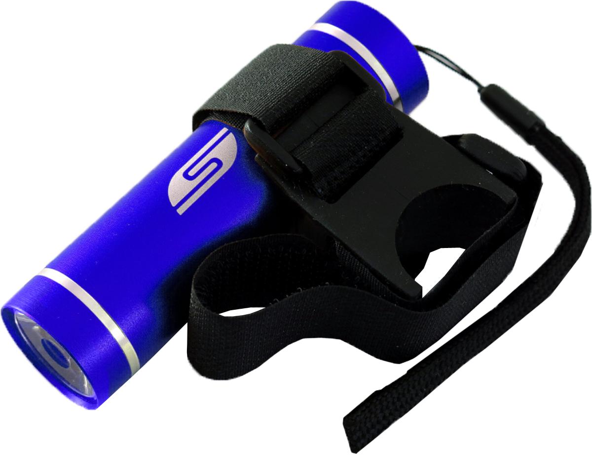 Фонарь велосипедный SolarisT-5V, передний, цвет: синий, черный фонарь брелок эра 1xled с лазерной указкой