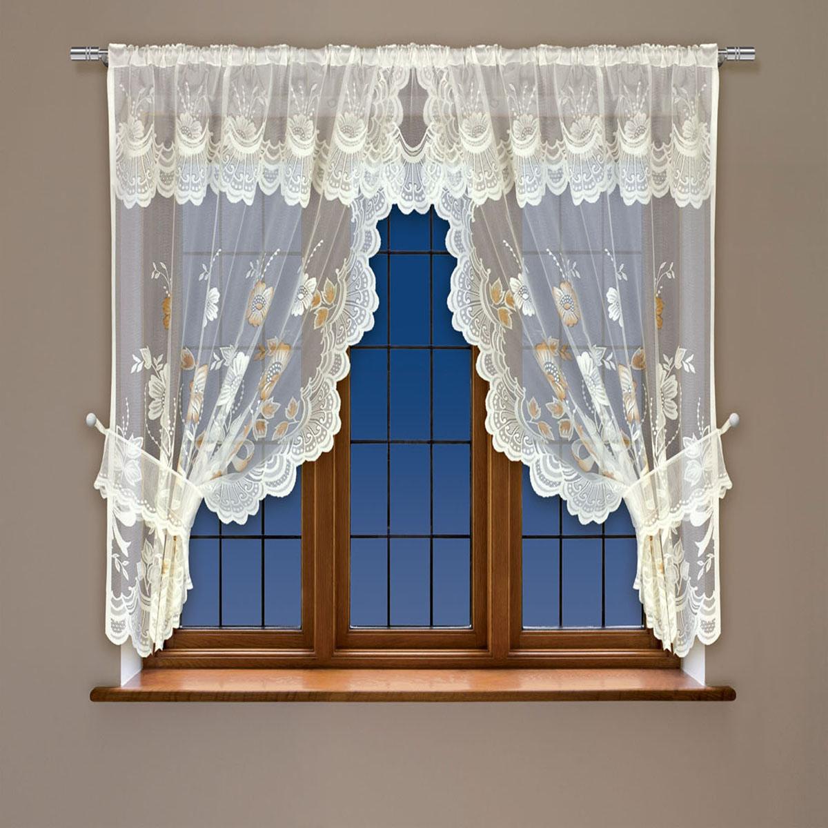 Гардина Haft, на кулиске, цвет: кремовый, высота 115 см. 202561202561/115 кремВоздушная гардина Haft, выполненная из полиэстера, великолепно украсит любое окно.Изделие имеет оригинальный дизайн и органично впишется в интерьер помещения.Гардина крепится на карниз при помощи кулиски.