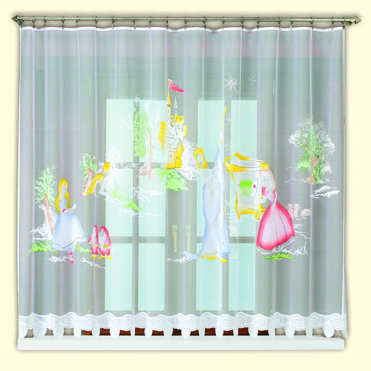 Гардина Haft, цвет: белый, ширина 300 см, высота 150 см. 42830/15042830/150жаккардовая гардина белого цвета в едсткую комнату девочки с цветным рисунком принцессыРазмеры: высота 150см*ширина 300см