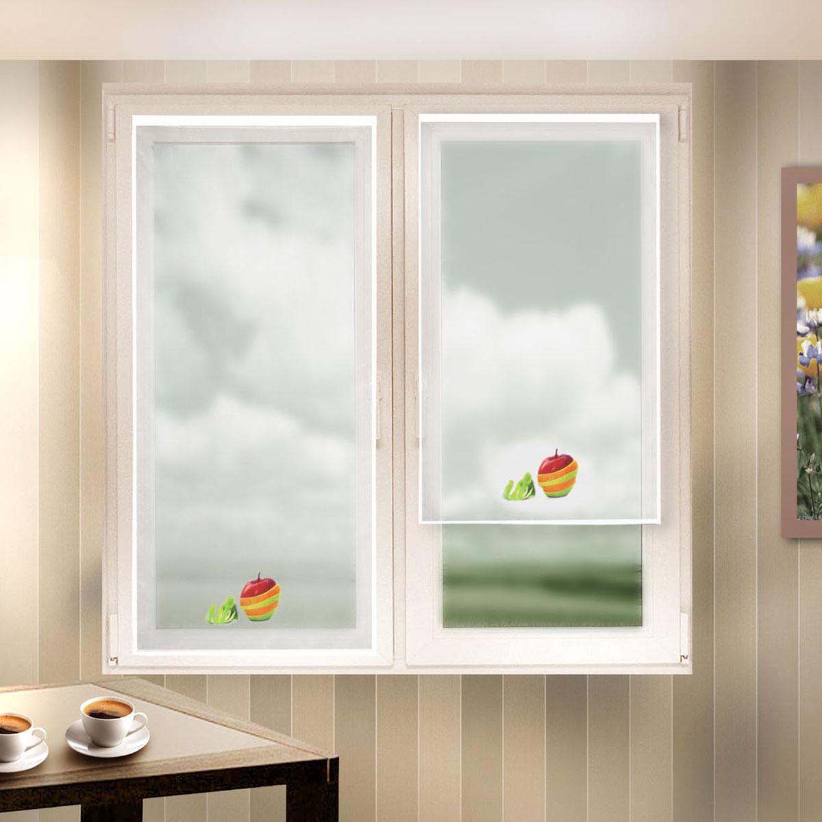 Гардина Zlata Korunka, на липкой ленте, цвет: белый, высота 140 см. 666041666041Гардина на липкой ленте Zlata Korunka, изготовленная из легкого полиэстера, станет великолепным украшением любого окна. Полотно из белой вуали с печатным рисунком привлечет к себе внимание и органично впишется в интерьер комнаты. Крепление на липкой ленте, не требующее сверления стен и карниза. Многоразовое и мгновенное крепление.