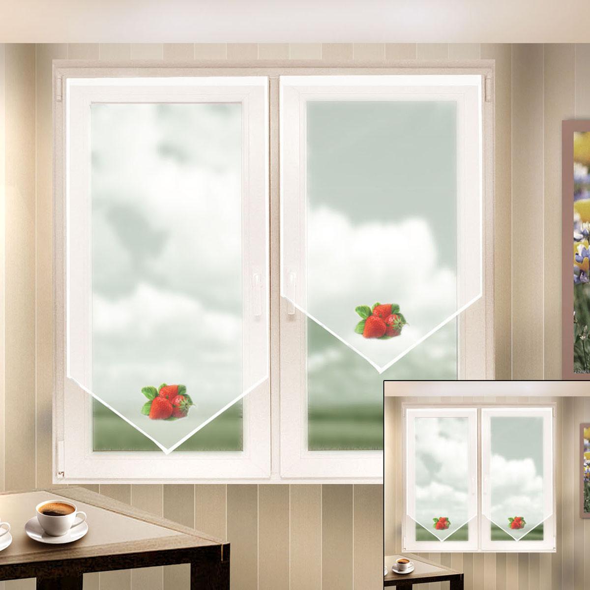 Гардина Zlata Korunka, на липкой ленте, цвет: белый, высота 140 см. 666051666051Гардина на липкой ленте Zlata Korunka, изготовленная из легкого полиэстера, станет великолепным украшением любого окна. Полотно из белой вуали с печатным рисунком привлечет к себе внимание и органично впишется в интерьер комнаты. Крепление на липкой ленте, не требующее сверления стен и карниза. Многоразовое и мгновенное крепление.