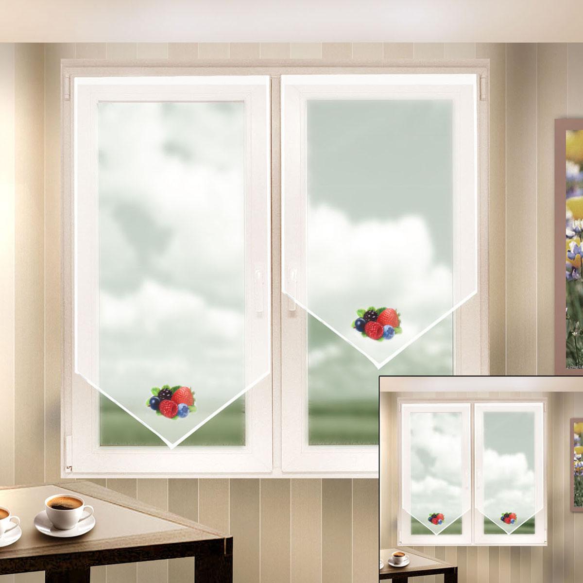 Гардина Zlata Korunka, на липкой ленте, цвет: белый, высота 140 см. 666053666053Гардина на липкой ленте Zlata Korunka, изготовленная из легкого полиэстера, станет великолепным украшением любого окна. Полотно из белой вуали с печатным рисунком привлечет к себе внимание и органично впишется в интерьер комнаты. Крепление на липкой ленте, не требующее сверления стен и карниза. Многоразовое и мгновенное крепление.
