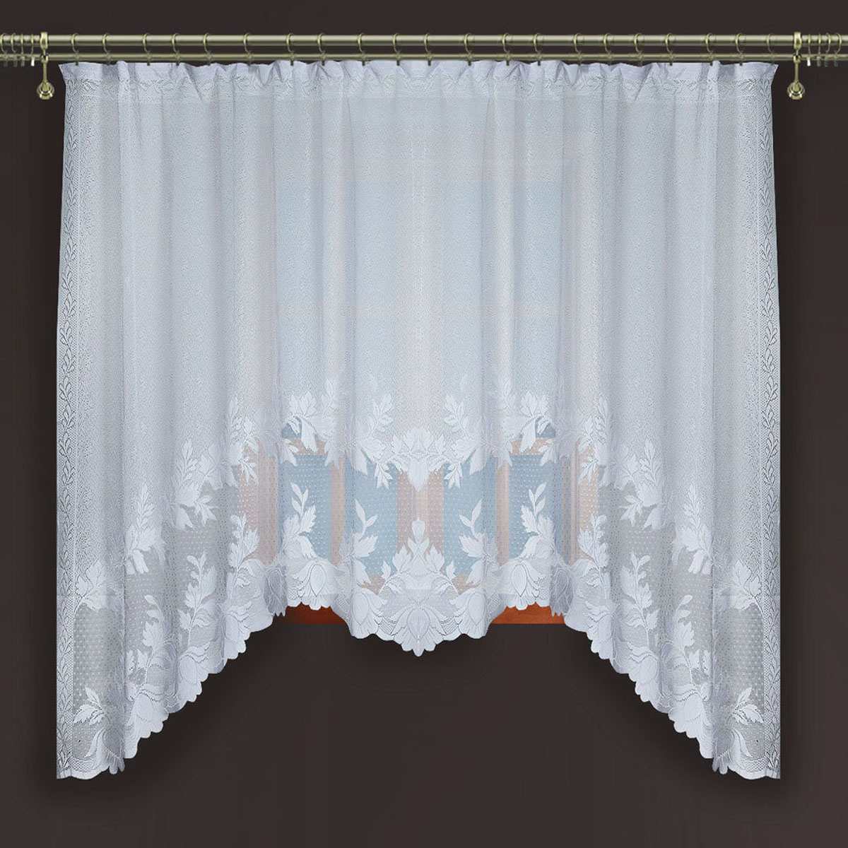 Гардина Zlata Korunka, цвет: белый, ширина 250 см, высота 160 см88867Гардина из тюле-кружевного полотна, крепление на зажимах для штор.,160*250Размеры: 160*250