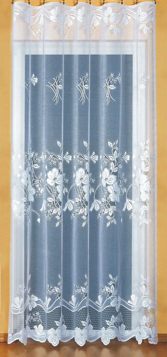 Гардина Wisan, на ленте, цвет: белый, высота 250 см. 91629162Жаккардовая гардина Wisan, выполненная из легкого полупрозрачного полиэстера, станет великолепным украшением окна в спальне или гостиной. Отлично подходит по размеру под балконный блок на прилегающее окно. Изделие дополнено красивым цветочным узором по всей поверхности полотна. Качественный материал, тонкое плетение и оригинальный дизайн привлекут к себе внимание и позволят гардине органично вписаться в интерьер помещения. Гардина оснащена шторной лентой для крепления на карниз.
