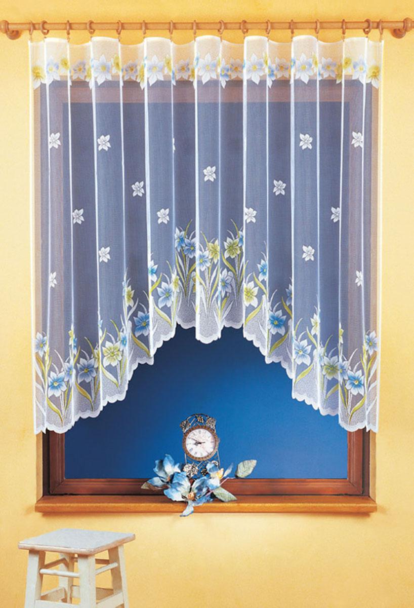 Гардина Wisan, цвет: белый, ширина 300 см, высота 150 см. 9355