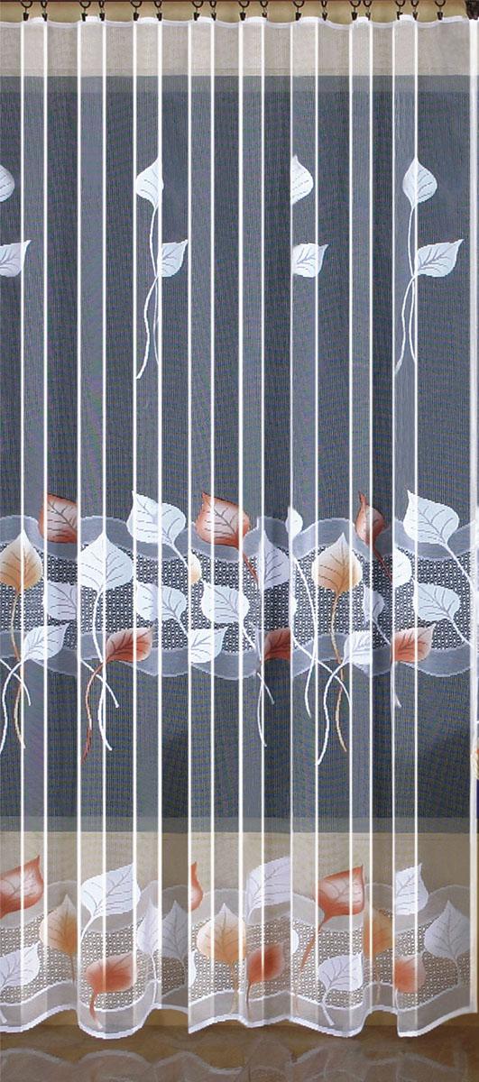 Гардина Wisan, цвет: белый, ширина 200 см, высота 250 см. 94039403вид крепления - под зажимы для шторРазмеры: ш.200* в.250