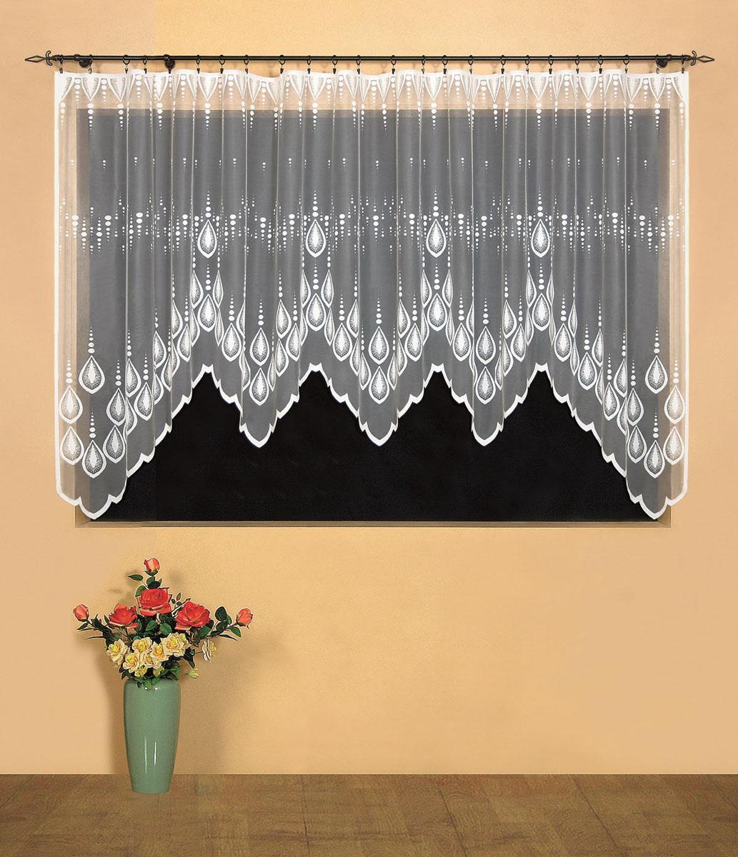 Гардина Wisan, цвет: белый, высота 160 см. 95199519Гардина Wisan, выполненная из легкого полиэстера, станет великолепным украшением окна в спальне или гостиной. Качественный материал, тонкое плетение и оригинальный дизайн привлекут к себе внимание и позволят гардине органично вписаться в интерьер помещения.Вид крепления - под зажимы для штор.