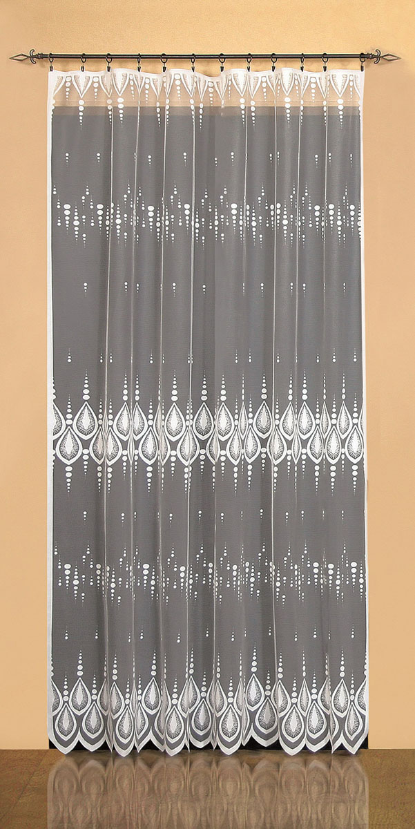 Гардина Wisan, цвет: белый, ширина 200 см, высота 250 см. 9521 гардина тюль wisan на ленте цвет оранжевый высота 250 см