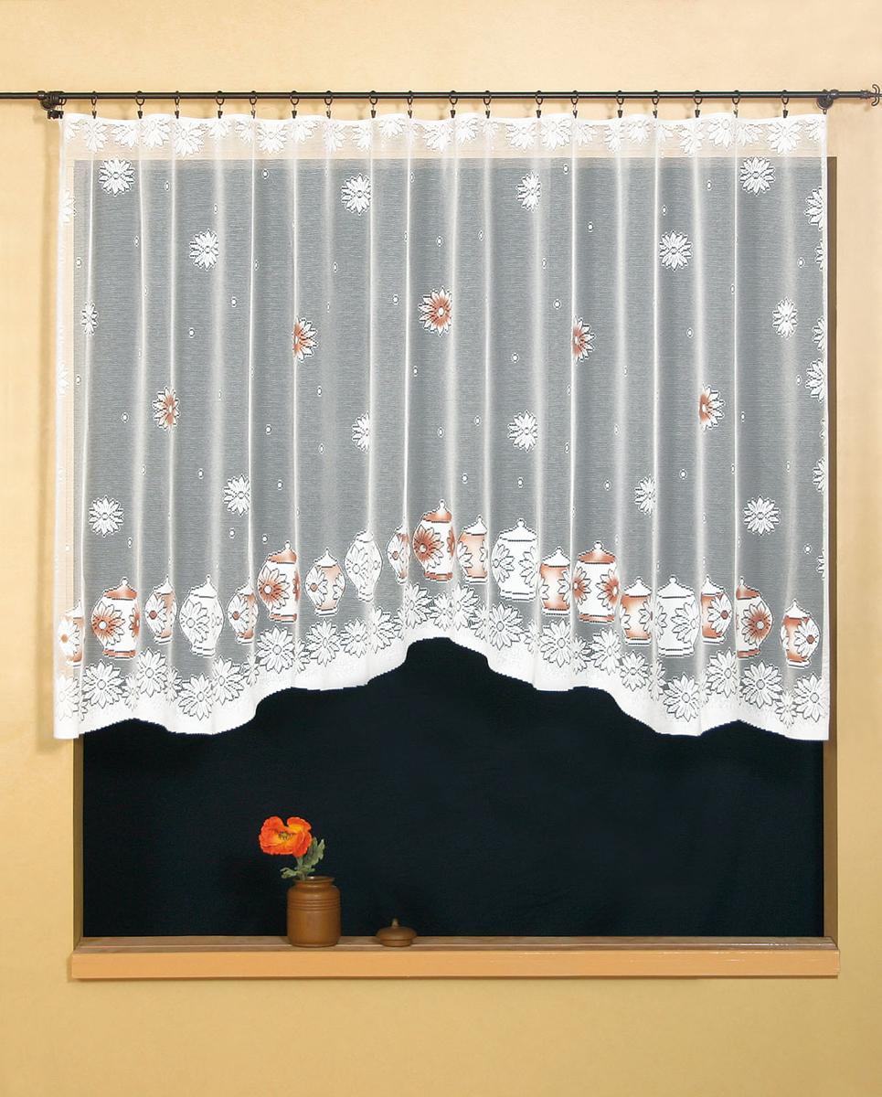 Гардина Wisan, цвет: белый, ширина 300 см, высота 150 см. 95549554Гардина жаккардовая, крепление зажимы для штор.Размеры: ширина 300*высота 150