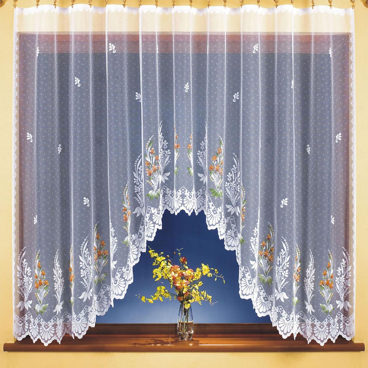 Гардина Wisan, цвет: белый, высота 150 см. 9812UN111268671Гардина Wisan, выполненная из легкого полиэстера, станет великолепным украшением окна в спальне или гостиной. Качественный материал, тонкое плетение и оригинальный дизайн привлекут к себе внимание и позволят гардине органично вписаться в интерьер помещения.Вид крепления - под зажимы для штор.