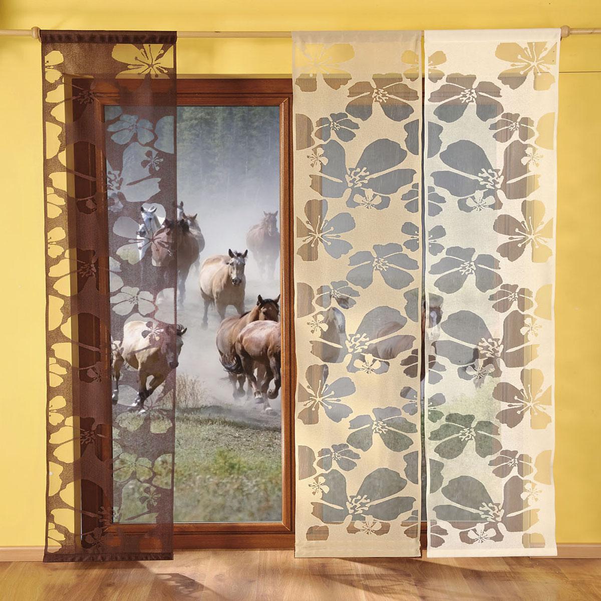 """Гардина """"Wisan"""", выполненная из легкого полупрозрачного полиэстера, станет великолепным украшением окна в спальне или гостиной. Изделие дополнено красивыми цветочными узорами по всей поверхности полотна. Качественный материал, тонкое плетение и оригинальный дизайн привлекут к себе внимание и позволят гардине органично вписаться в интерьер помещения. Гардина оснащена кулиской для крепления на круглый карниз."""