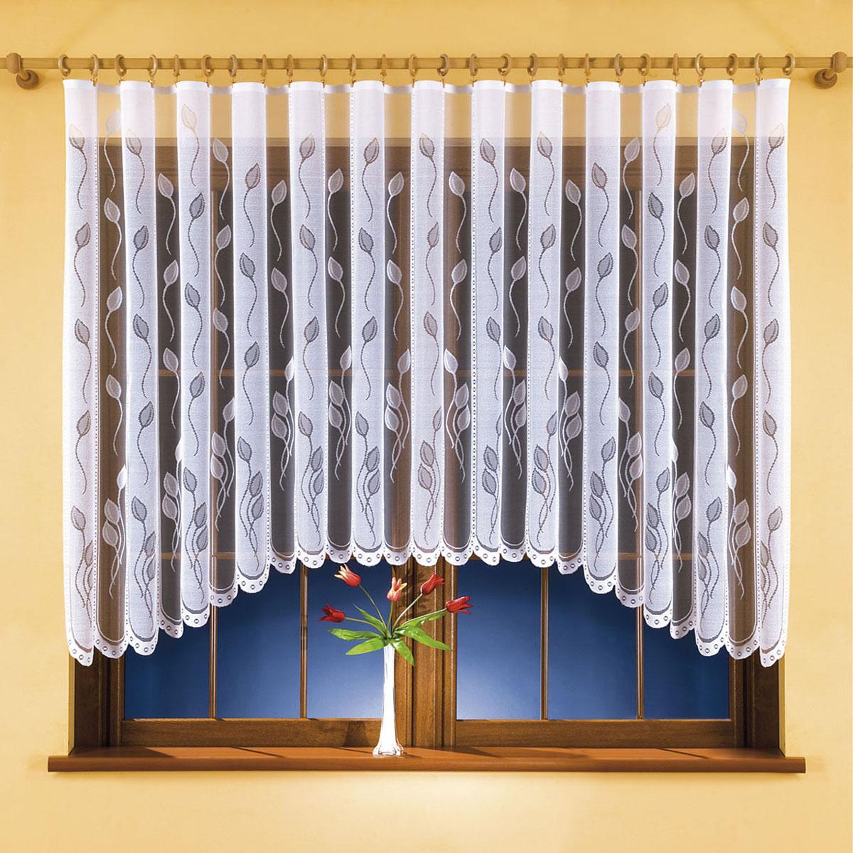 Гардина Wisan, цвет: белый, высота 150 см. 99259925Гардина Wisan, выполненная из легкого полиэстера, станет великолепным украшением окна в спальне или гостиной.Качественный материал, тонкое плетение и оригинальный дизайн привлекут к себе внимание и позволят гардине органично вписаться в интерьер помещения. Вид крепления - под зажимы для штор.