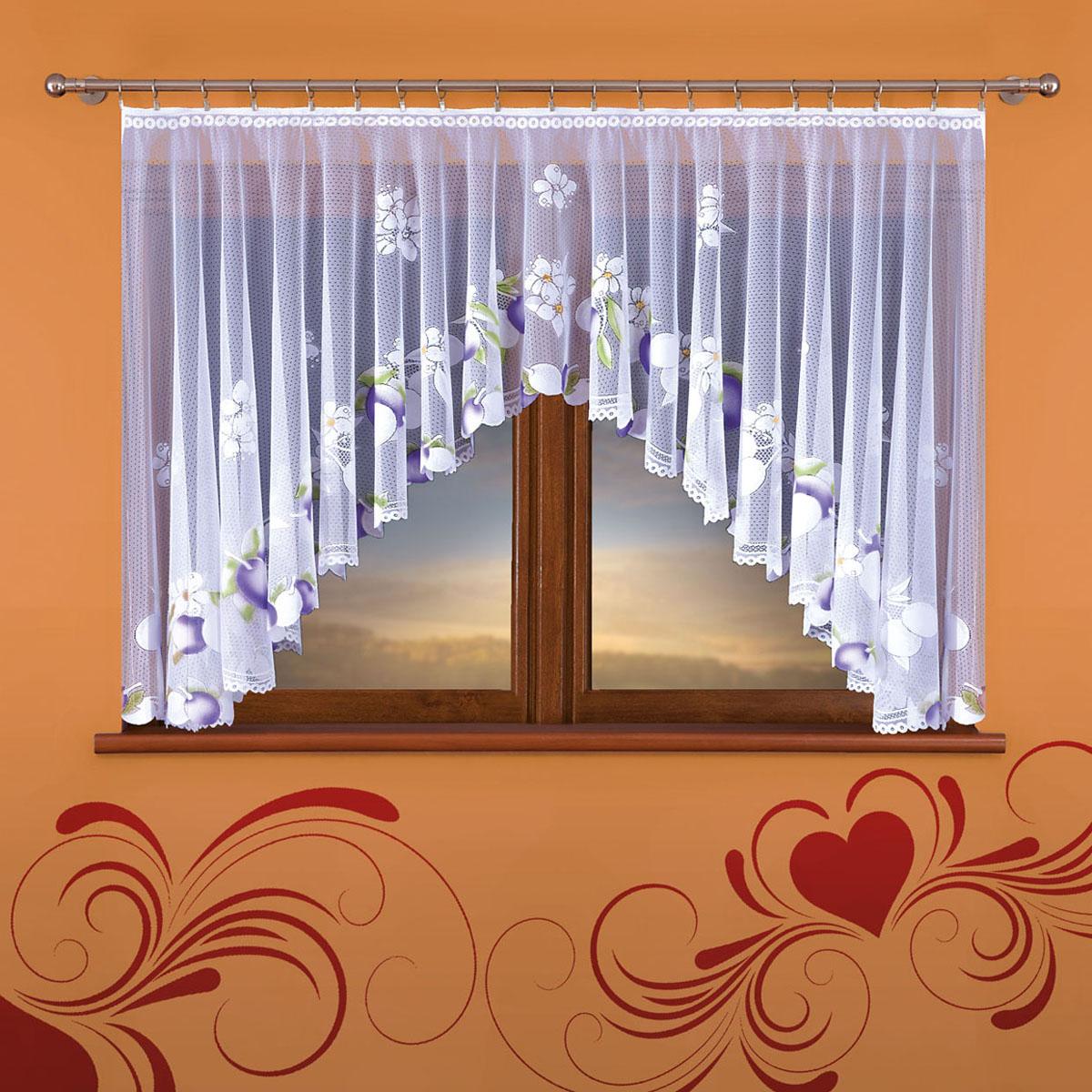 Гардина Wisan, цвет: белый, ширина 160 см, высота 130 см364Евид крепления - под зажимы для шторРазмеры: 160*130