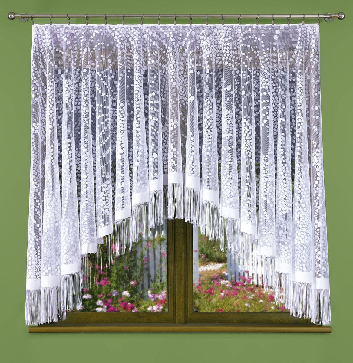 Гардина Wisan, цвет: белый, ширина 170 см, высота 180 см441ЕГардина жаккардовая, крепление зажимы для штор.Размеры: 170*180