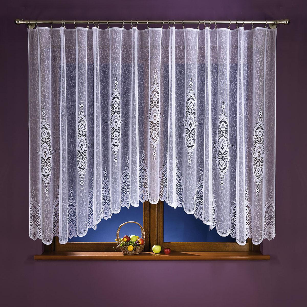 Гардина Wisan, цвет: белый, высота 160 см. 153А666044-1Гардина Wisan, выполненная из легкого полиэстера, станет великолепным украшением окна в спальне или гостиной. Качественный материал, тонкое плетение и оригинальный дизайн привлекут к себе внимание и позволят гардине органично вписаться в интерьер помещения.Вид крепления - под зажимы для штор.