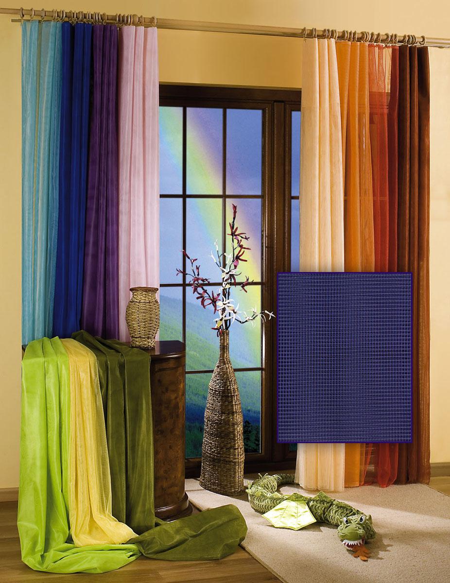 Гардина-тюль Wisan, цвет: темно-синий, ширина 150 см, высота 250 см5896 т.синийГардина-тюль из жесткой сеточки, с вшитой шторной лентой.Размеры: шир.150*выс.250