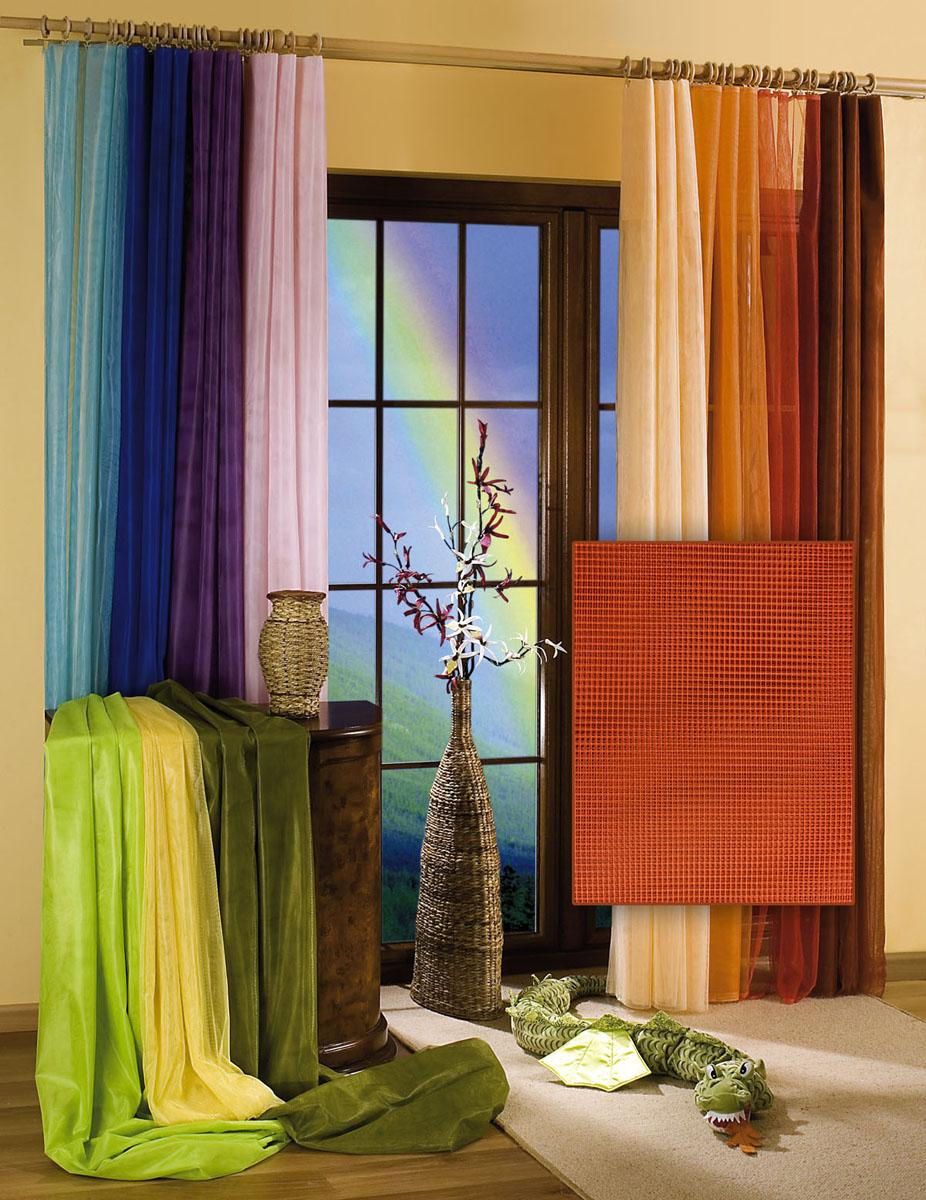 Гардина-тюль Wisan, цвет: терракотовый, ширина 150 см, высота 250 см5896 терракотГардина-тюль из жесткой сеточки, с вшитой шторной лентой.Размеры: ширина 150*выс.250