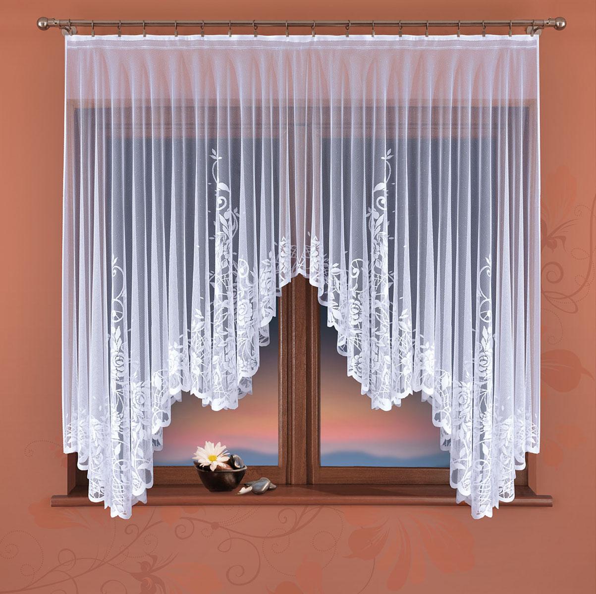 Гардина Wisan, цвет: белый, ширина 170 см, высота 160 см334ЕГардина жаккардовая, крепление зажимы для штор.Размеры: 170*высота 160