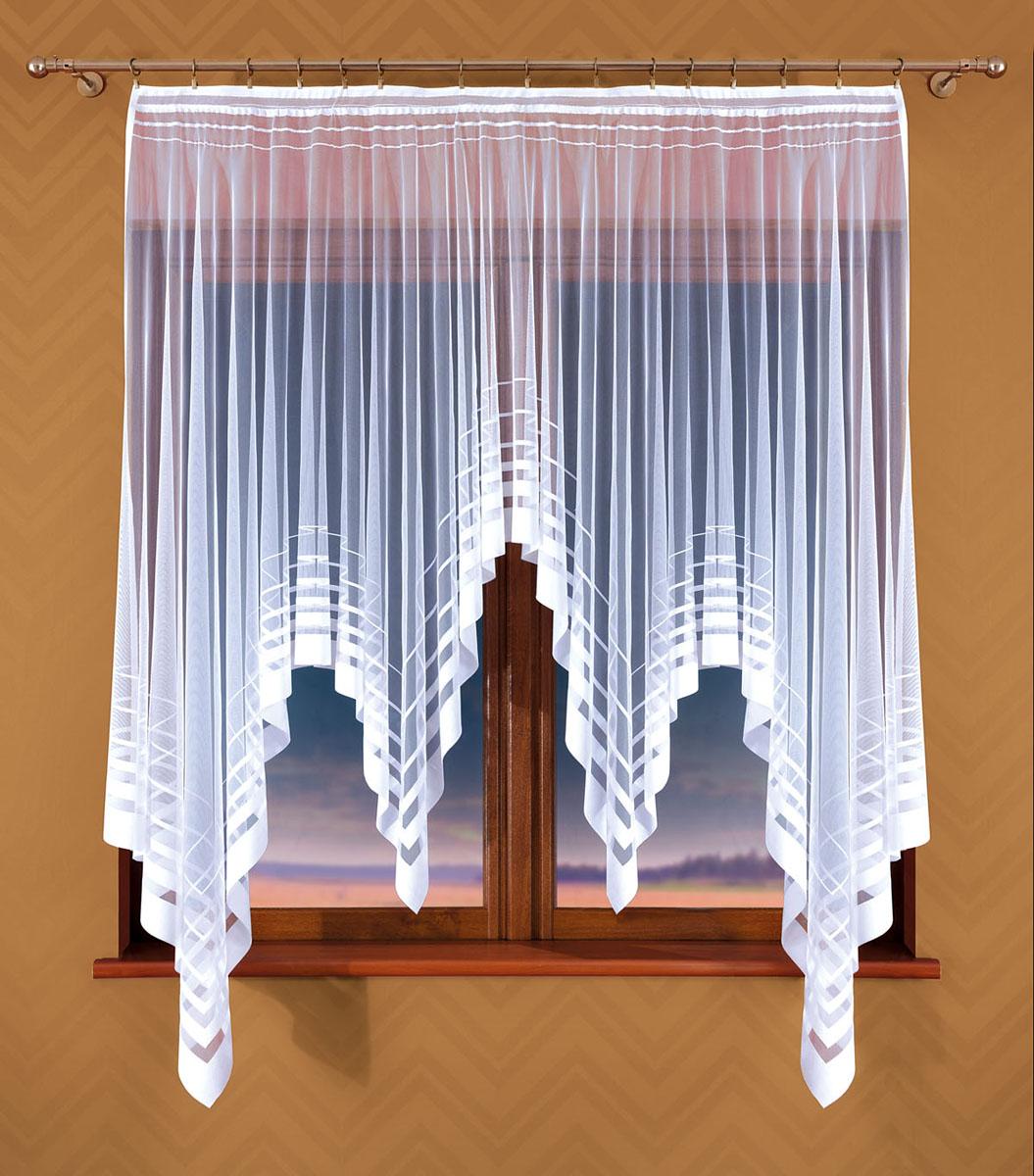 Гардина Wisan, цвет: белый, ширина 170 см, высота 170 см359ЕГардина жаккардовая, крепление зажимы для штор.Размеры: ширина 170*170