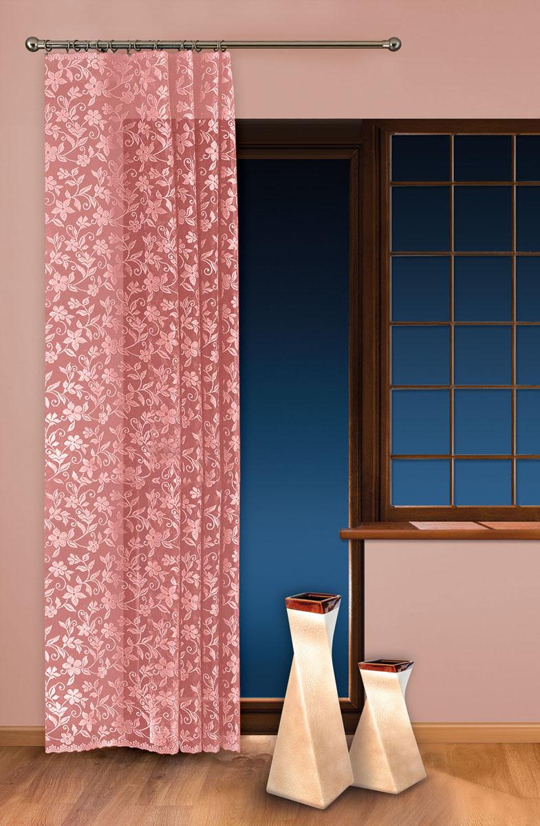 Гардина-тюль Wisan, на ленте, цвет: розовый, высота 250 см. 59245924 розовыйЖаккардовая гардина-тюль Wisan, выполненная из легкого полиэстера, станет великолепным украшением окна в спальне или гостиной. Изделие дополнено красивыми узорами по всей поверхности полотна. Качественный материал, изысканная цветовая гамма и оригинальный дизайн привлекут к себе внимание и позволят гардине органично вписаться в интерьер помещения. Гардина оснащена шторной лентой для крепления на карниз. Отлично подходит по размеру под балконный блок на прилегающее окно.