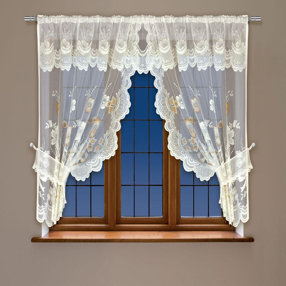 Гардина Haft, на кулиске, цвет: кремовый, высота 91 см. 202561202561/91 кремВоздушная гардина Haft, выполненная из полиэстера, великолепно украсит любое окно.Изделие имеет оригинальный дизайн и органично впишется в интерьер помещения.Гардина крепится на карниз при помощи кулиски.