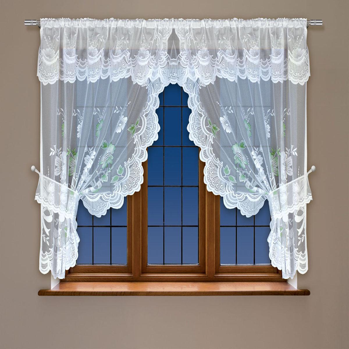 Гардина Haft, на кулиске, цвет: белый, высота 122 см. 202561202561/122белыйВоздушная гардина Haft, выполненная из полиэстера, великолепно украсит любое окно.Изделие имеет оригинальный дизайн и органично впишется в интерьер помещения.Гардина крепится на карниз при помощи кулиски.