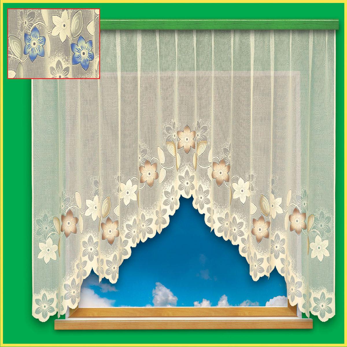 Гардина Haft, цвет: бежевый, ширина 300 см, высота 180 см28090/180 бежевыйКремовая гардина из жаккардовой ткани с бежевым рисунком цветов, высотой 180 смРазмеры: высота 180см * ширина 300см