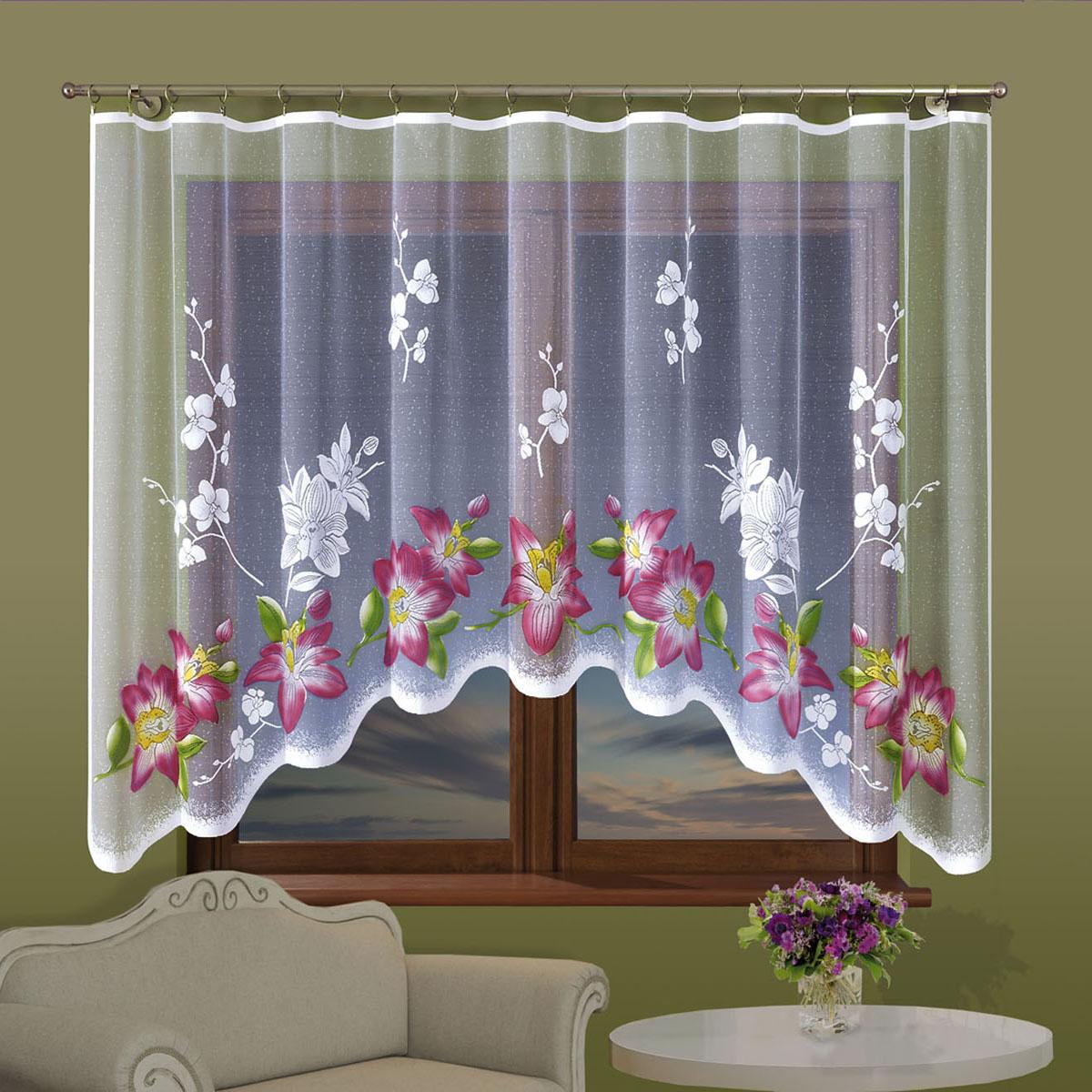 Гардина Wisan, цвет: белый, ширина 300 см, высота 160 см. 702Е702ЕГардина жаккардовая, крепление зажимы для штор.Размеры: 300*160