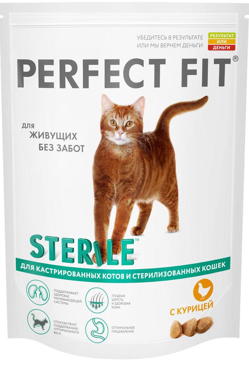 Корм сухой Perfect Fit, для кастрированных котов и стерилизованных кошек, с курицей, 650 г41038Perfect Fit – это специально разработанный корм, созданный для того, чтобы обеспечить вашу кошку всеми питательными веществами, необходимыми для долгой и здоровой жизни.У каждой кошки свой образ жизни. Кто-то часами может наблюдать за рыбками в аквариуме или просто дремать, а кто-то резвится и играет, как котенок весь день напролет. Чтобы привычный образ жизни оставался таким же беззаботным и после стерилизации, кошкам необходим рацион, учитывающий особенности организма после операции. Perfect Fit Sterile создан специально для поддержания здоровья и жизненного тонуса домашних кошек после кастрации или стерилизации.Состав: высушенный белок из птицы (включая 24% курицы), пшеница, высушенный животный белок, кукуруза, кукурузный белок, животный жир, рис, высушенная печень, сухая свекла, соль, дрожжи, хлорид калия, подсолнечное масло, рыбий жир.Биохимический состав: белки- 41%, жиры- 14,50%, клетчатка- 2%, зола- 8%, кальций- 1,1%, фосфор- 1%, магний- 0,10%, омега3- 0,5 г , Омега6- 3,6 г, биотин (B7)- 0,02г,таурин -187 мг, витамин А- 1681 МЕ, витамин Д3- 174,5 МЕ, витамин Е- 81 мг, витамин С- 37,5 мг, сульфат цинка- 14,5 мг, витамины группы B.Товар сертифицирован.Уважаемые покупатели!Обращаем ваше внимание на возможные изменения в дизайне упаковки. Качественные характеристики товара остались неизменными. Поставка осуществляется в зависимости от наличия на складе.