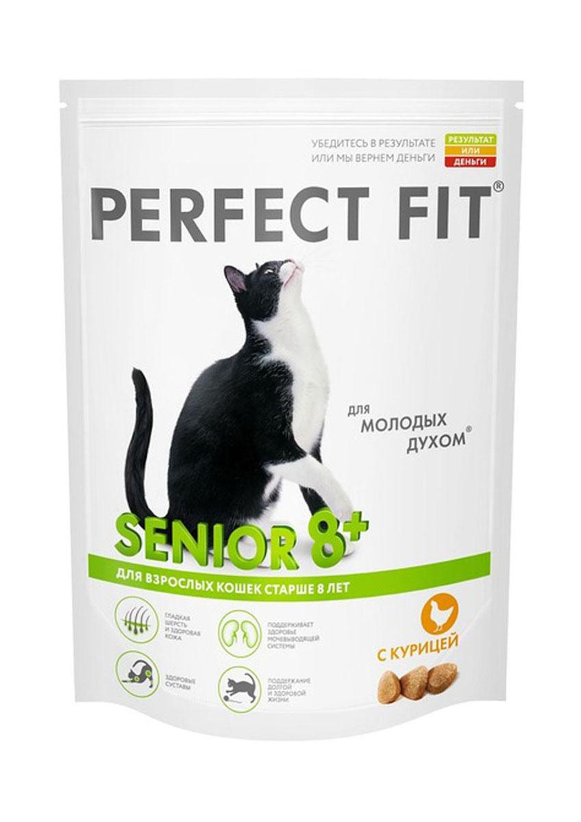 Корм сухой Perfect Fit, для взрослых кошек старше 8 лет, с курицей, 650 г41040Perfect Fit – это специально разработанный корм, созданный для того, чтобы обеспечить вашу кошку всеми питательными веществами, необходимыми для долгой и здоровой жизни.Кошки удивительные животные еще и потому, что могут оставаться веселыми, красивыми и грациозными даже в зрелом возрасте. Однако нужно помнить, что с возрастом у вашего питомца меняется не только характер и поведение, но и потребности. Кошки, которым за 8 лет, не так подвижны и пластичны, как раньше. Perfect Fit приготовлен, чтобы поддержать энергичность и здоровье взрослых кошек.Ингредиенты: дегидратированный белок птицы (курица не менее 24%), дегидратированный животный белок, животный жир, кукуруза, кукурузный глютен, кукурузная мука, рис, рисовый белок, соевая мука, сушеная свекла, дрожжи, мука из цветков календулы, витамины и минералы, соль.Биохимический состав: белок - 41%, жир - 14,5%, клетчатка - 2%, зола - 9%, влажность - 9%, кальций - 1,0%, фосфор - 1,0%, магний - 0,1%, цинк - 0,005%, медь - 0,001%, таурин - 0,2%, витамин А - 1200 МЕ, витамин D3 - 120 МЕ, витамин Е - 0,05%, витамин С - 0,02%.Товар сертифицирован.