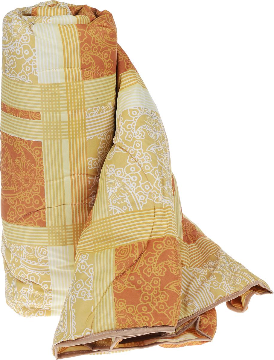 """Легкое стеганое одеяло Легкие сны """"Золотое руно"""" с наполнителем из  овечьей шерсти расслабит, снимет усталость и  подарит вам спокойный и здоровый сон.  Шерстяные волокна, получаемые из овечьей шерсти, имеют полую структуру, придающую  изделиям высокую износоустойчивость. Чехол одеяла, выполненный из смесовой ткани отлично пропускает воздух, создавая эффект  сухого тепла. Одеяло простегано. Стежка надежно  удерживает наполнитель внутри и не позволяет ему  скатываться.  Рекомендации по уходу: Отбеливание, стирка, барабанная сушка и глажка запрещены. Разрешается химчистка. Уважаемые клиенты!  Товар поставляется в цветовом ассортименте. Поставка осуществляется в зависимости от наличия на складе."""