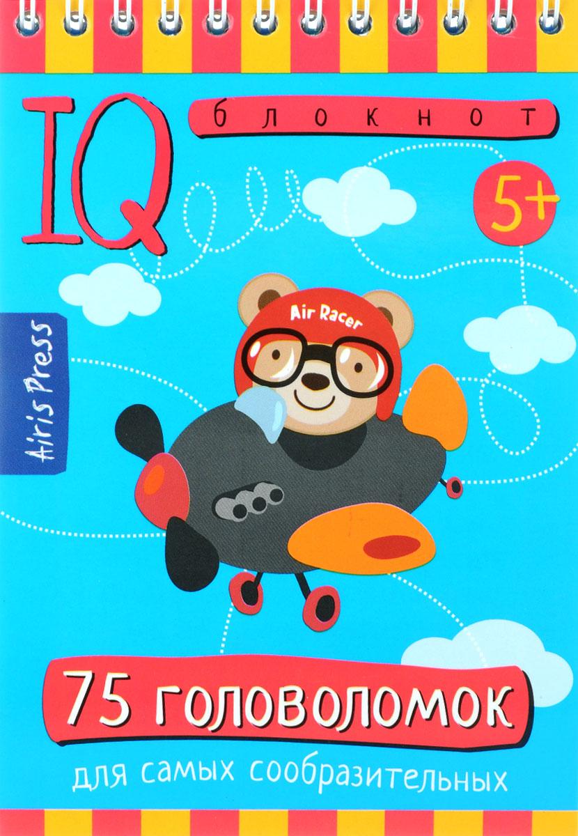 Айрис-пресс Обучающая игра Умный блокнот 75 головоломок -