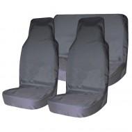 Комплект грязезащитных чехлов на передние и заднее сиденья Tplus, с мешком для хранения, цвет: серый, 3 штT001267Защитные чехлы Tplus предохранят сиденья вашего автомобиля от загрязнений. Чехлы выполнены из прочного и износостойкого материала - оксфорда. Чехлы легко моются и подходят на все типы сидений. На тыльной стороне расположен карман. Чехлы комплектуются удобным мешком для хранения.