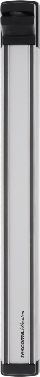 Держатель магнитный для ножей Tescoma President, с точилкой, длина 41 см638699Держатель Tescoma President предназначен для удобного хранения металлических кухонныхножей. Он оснащен сильными магнитами для надежной фиксации ножей и точилкой с прочнойалмазной поверхностью для эффективной заточки. Изделие изготовлено из высококачественнойнержавеющей стали, анодированного алюминия и прочного пластика. Инструкция по монтажу, втом числе монтажные аксессуары входят в комплект. Держатель для ножей Tescoma President идеально впишется в интерьер современной кухни ипозволит полнее использовать пространство, избегая размещения ножей на горизонтальнойповерхности.