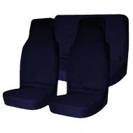 Комплект грязезащитных чехлов на передние и заднее сиденья Tplus, с мешком для хранения, цвет: синий, 3 штT001275Защитные чехлы Tplus предохранят сиденья вашего автомобиля от загрязнений. Чехлы выполнены из прочного и износостойкого материала - оксфорда. Чехлы легко моются и подходят на все типы сидений. На тыльной стороне расположен карман. Чехлы комплектуются удобным мешком для хранения.
