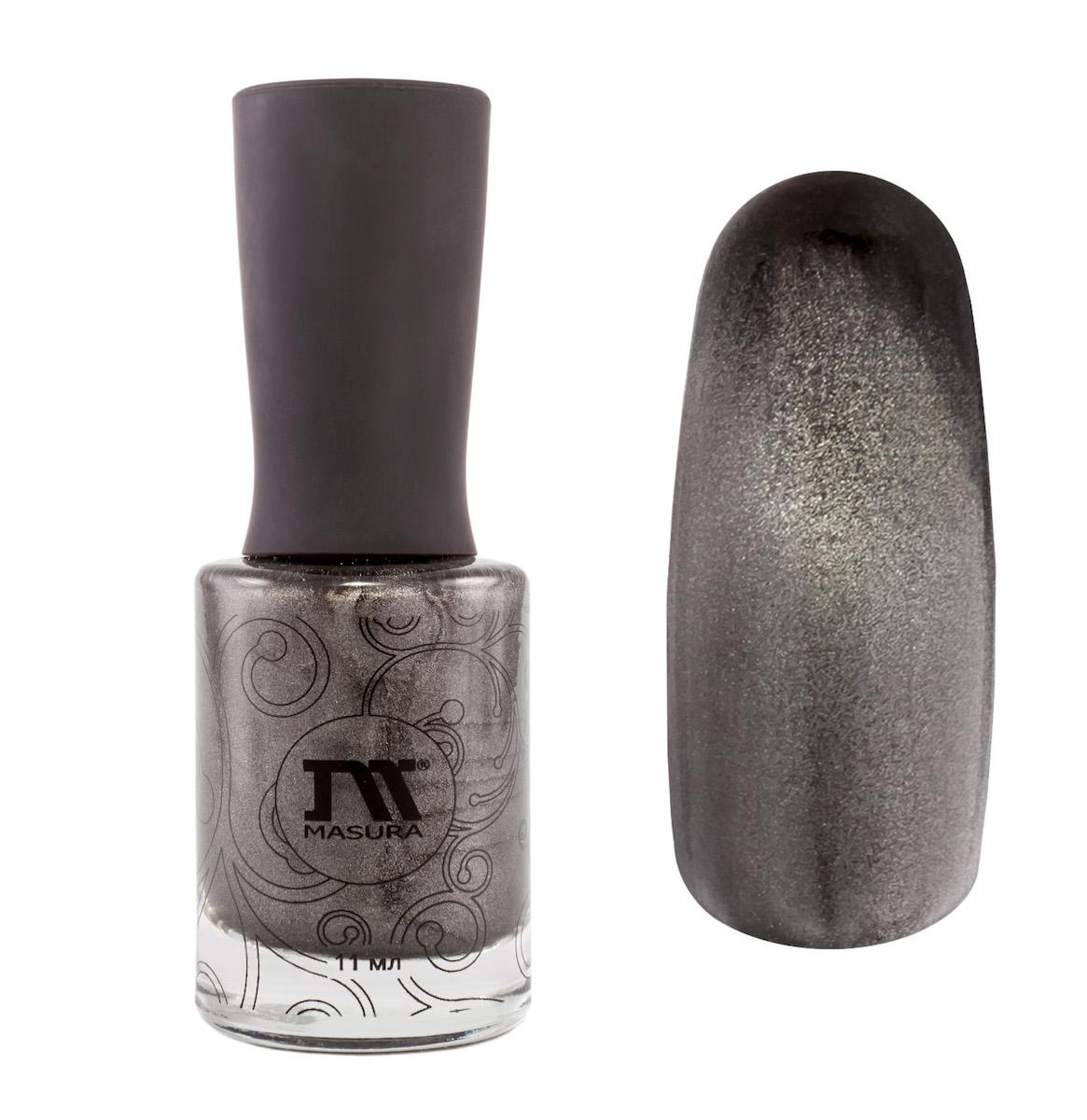 Masura Лак для ногтей Неограненный Алмаз, 11 мл904-117дымчатый.Магнит в комплект не входит.