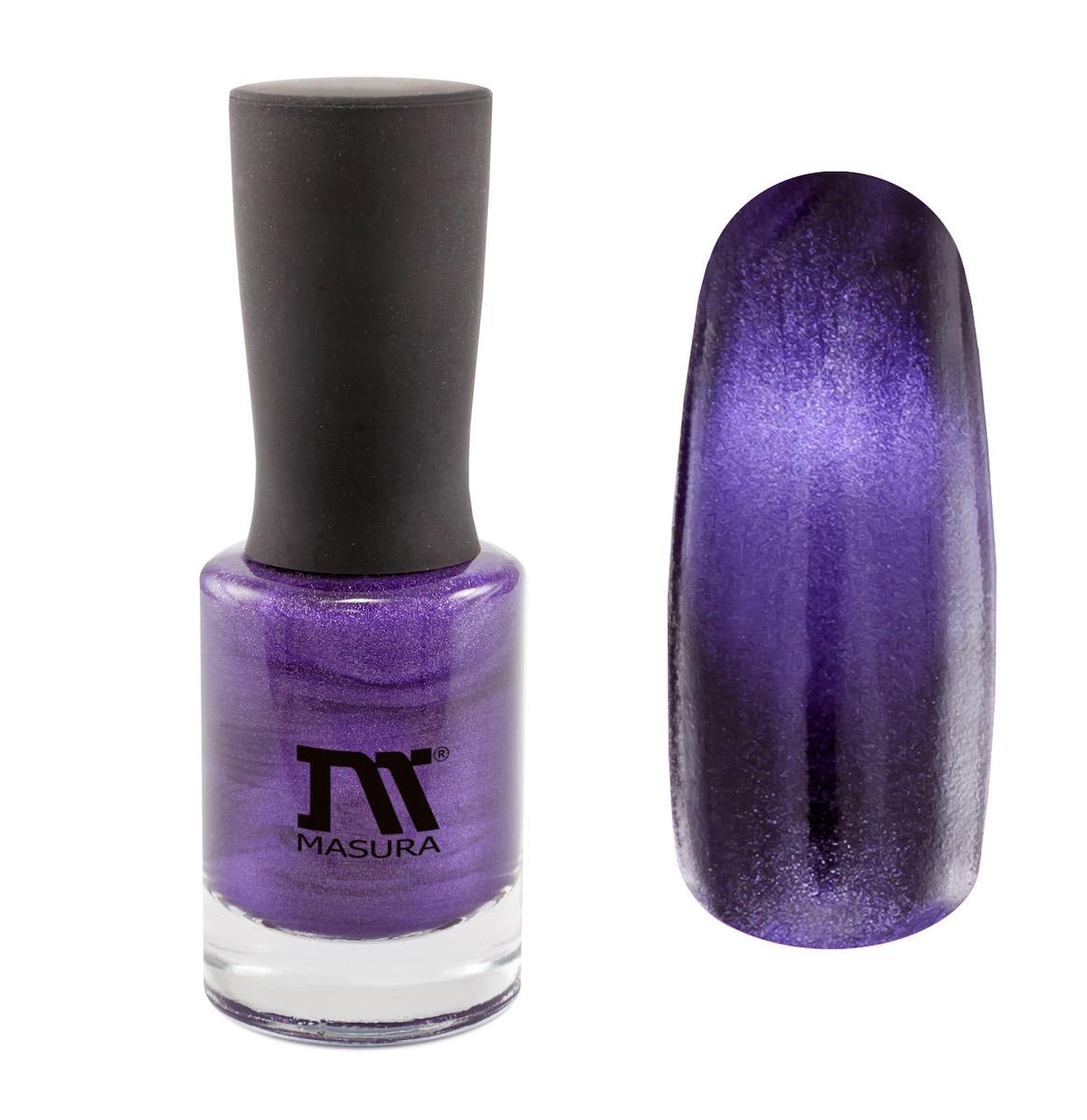 Masura Лак для ногтей Лиловый Ангелит, 11 мл904-169глубокий пурпурный, с сиреневым подтоном, плотный