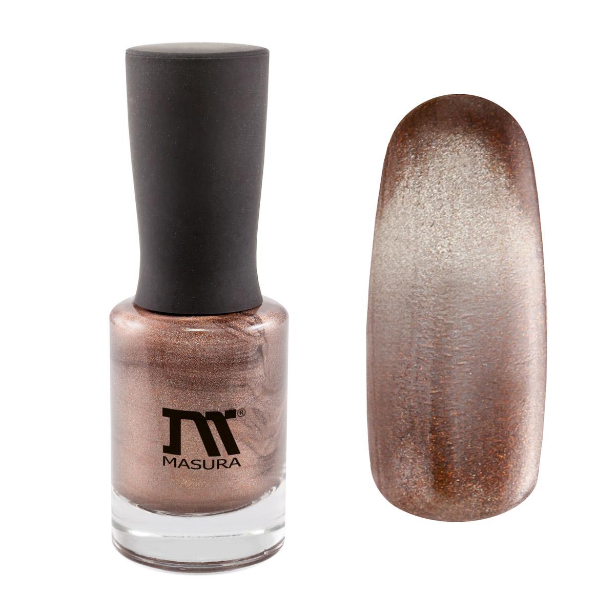 Masura Лак для ногтей Дымчатый Раухтопаз, 11 млУТ00000387светло-коричневый, с серебристым подтоном, с золотыми микроблестками, плотный